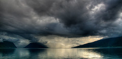 Sognefjord after the Storm (hflowers) Tags: travel mountain storm water norway clouds landscape norge europe norwegen fjord hella carferry sognfjord sognefjorden vangsnes sognogfjordanefylke sogogfjordane