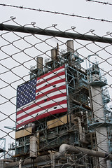 "BP Flag (johnwilliamsphd) Tags: california ca copyright canon fence john la losangeles williams c americanflag chainlink bp dslr refinery lb lbc britishpetroleum "" williams"" ""john johncwilliams barbedwirelongbeach johnwilliamsphd phd"""