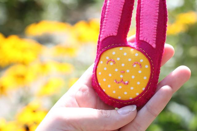Handmade felt & fabric bunny!