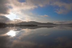 Early morning lake reflection, Northern Sweden (Wansfordphoto) Tags: park panorama mountain snow mountains nature water landscape landscapes countryside photo scenery europe european view shot cloudy photos shots lappland lakes scenic parks panoramas peak overcast swedish panoramic sierra national covered lapland views vista waters vistas sierras peaks scandinavia scandinavian riksgransen sceneries mountainous summits snowysummit travelsweden