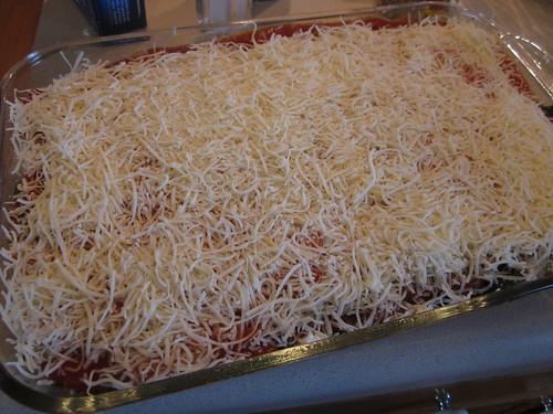 Pre-baking lasagna