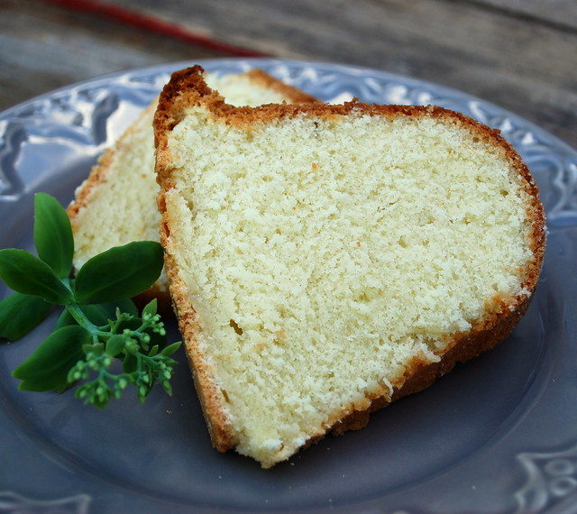 Sour Cream Pound Cake slice