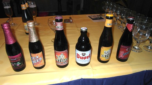 Some of the specialty Belgian beers carried by The Drinking Partners.