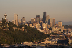 Seattle Skyline from Magnolia Bluff (Jim Corwin's PhotoStream) Tags: seattle city travel sunset vacation urban tourism horizontal skyline architecture buildings outdoors photography downtown nw cityscape waterfront