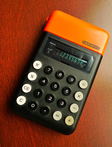 classic vintage calculator omron86