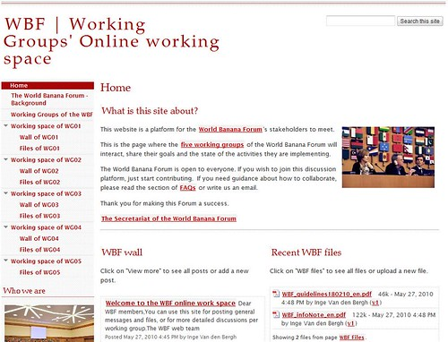Example of a Web site created using Google Sites