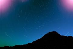 starfull sky with mt,jonen / 満点の星空と常念岳