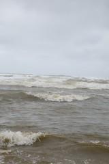"""France, Pas-de-Calais (62), Stella-Plage : """" dans les vagues """""""