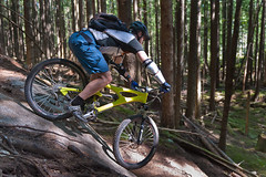 Dan Behind the Saddle (Stmpjmpr) Tags: trees canada vancouver rocks britishcolumbia events northshore mountainbiking squamish steep danking