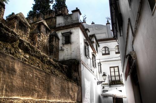 Jewish quarter street. Seville. Calle de la Judería. Sevilla.