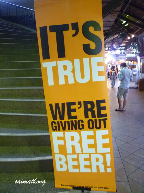 Free Beer @ Asia Cafe