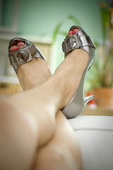 one two buckle my shoe (bethantics) Tags: heels peeptoefutabbcbgirls