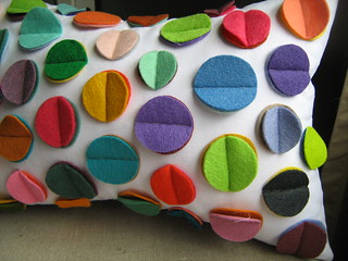 Rainbow Disc Pillow