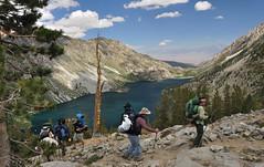 Leaving Sabrina (Marc Briggs) Tags: california sierra backpacking backpack sierranevada sunsetlake dayhike easternsierra sabrinalake dsc0008b donkeylake baboonlakes