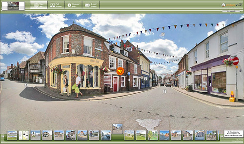 A scene from Bishop Waltham's virtual tour