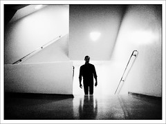 """The Man Who Came Up the Stairs"" (Sion Fullana) Tags: nyc people urban blackandwhite bw newyork painterly blancoynegro silhouette bill scary shadows creative eerie creepy liam characters silueta allrightsreserved newyorkers newyorklife guggenheimmuseum iphone guggenheimnewyork pictorialism urbanshots creativeshots urbannewyork iphone4 iphonephotography iphoneshots camerabagapp iphoneography iphoneographer sionfullana liamtorres crossprocessapp throughthelensofaniphone themanwhocameupthestairs"