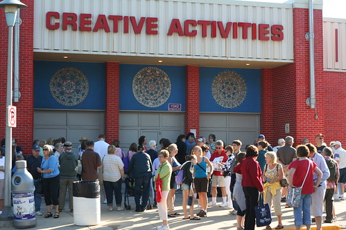 Mob outside Creative Activities