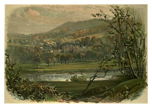 001-Vista de Abbotsford de la orilla norte del Tweed-Abbotsford…1893-ilustrado por William Gibb