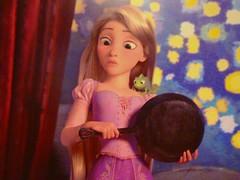 Tangled: Rapunzel (partyhare) Tags: art fairytale movie artwork disney animation animated pascal chameleon rapunzel fryingpan preview tangled disneyshollywoodstudios
