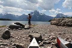 Setting up the Camera on the Island (Nature Valley Explorers) Tags: grandteton jacksonlake naturevalley teammountain