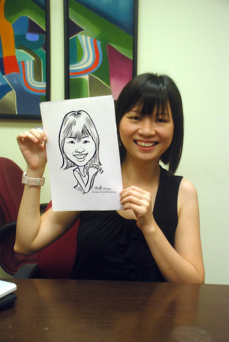 Caricature live sketching @ UOB Finance Division - 8