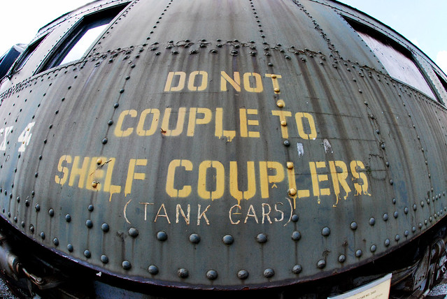 Remembering why I love my fisheye lens: At the train museum