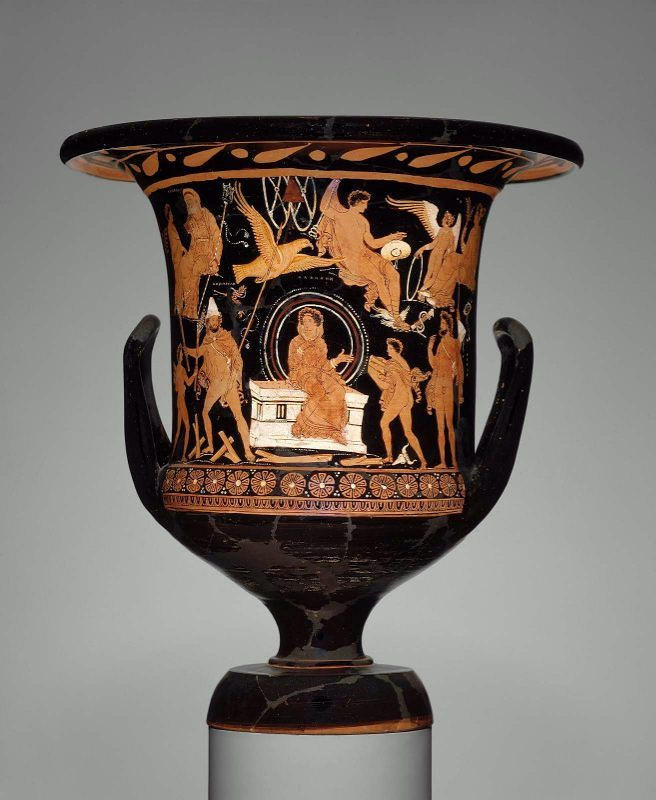 An Apulian Red-figure Calyx Krater Attributed to the Darius Painter, the Rescue of Alkmene