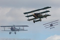 Great War Display Team (Rob_Leigh) Tags: aviation airshow 17 ww1 greatwar biplane robbo fokker dr1 airdisplay nieuport sywell robleigh greatwardisplayteam gbwmj n1977