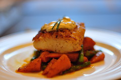 Halibut with Carrots and Asparagus