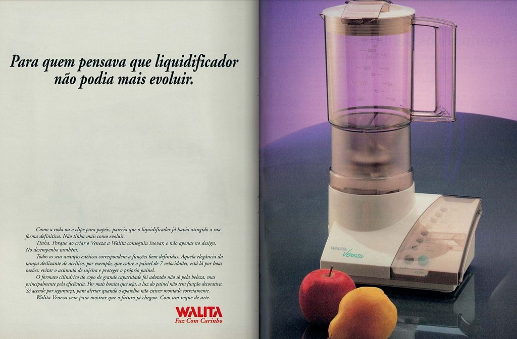 Advertisement from 1993 - Philips' Walita Veneza blender release (Gugue)  Tags: brazil