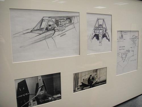 Star Wars Celebration V   Art Of Ralph McQuarrie   X Wing And Skyhopper Art