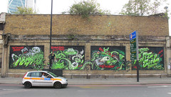 Too Much Metal For One Hand! (RABBIT EYE MOVEMENT) Tags: show street urban rabbit london eye art metal movement artwork mural gallery evil exhibition line east shoreditch hoxton end graffit pure lowbrow nychos