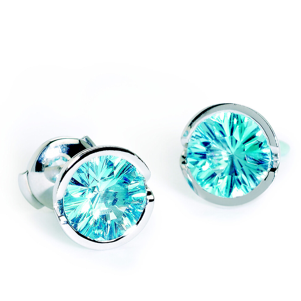 Fission Cocktail Earrings Blue Topaz