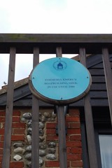 Photo of Emery's Boatbuilding shed blue plaque