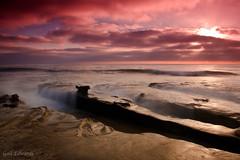242/365 (CuteAsABugOnARug) Tags: ocean california longexposure sunset beach water clouds canon rocks pacific sandiego lajolla pacificocean nd 365 tamron pacificcoast lajollacov