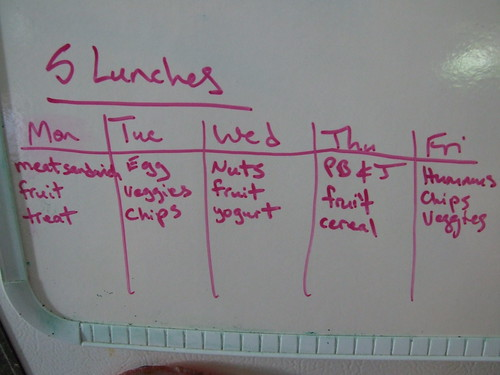 packed lunch plan