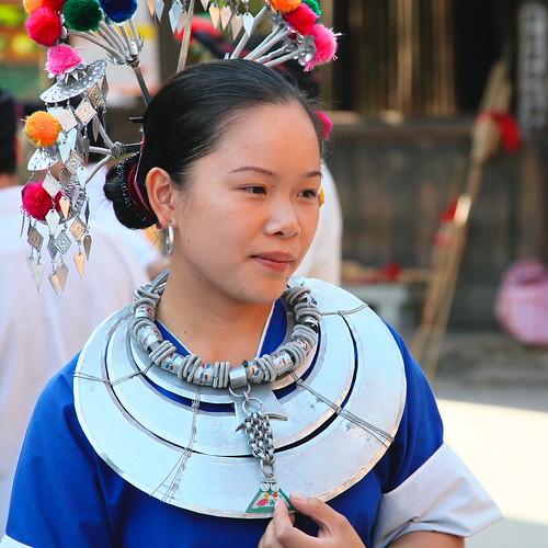A Dong girl in Chengyang, Guangxi, China