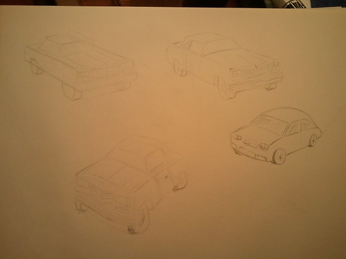 Drawing Marvel Cars (light sketches)