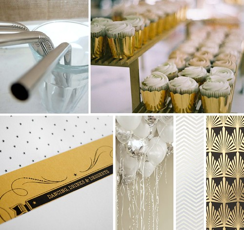 metallics birthday inspiration