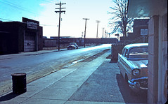 Feb 1960. Somewhere in the USA? (Lazenby43) Tags: usa 1971 oldslides 1960 funit carguess