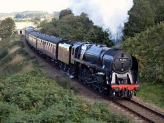 9F at Kelling (Gerry Balding) Tags: england track trains steam engines rails gala locomotives eastanglia 2100 northnorfolkrailway britishrailways kellingheath 9f 92212 uksteam thepoppyline mgnr
