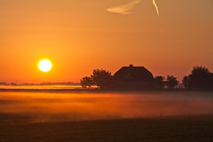slight mist on the ground and sunrise in the early morning 02 (drbob97) Tags: morning orange sun sunlight sunshine fog sunrise canon early meadow dew weiland drbob 40d tripleniceshot mygearandmepremium mygearandmebronze mygearandmesilver mygearandmegold mygearandmeplatinum mygearandmediamond drbob97