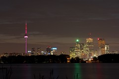 Toronto by night (mcdux) Tags: longexposure toronto building water night cntower lakeontario