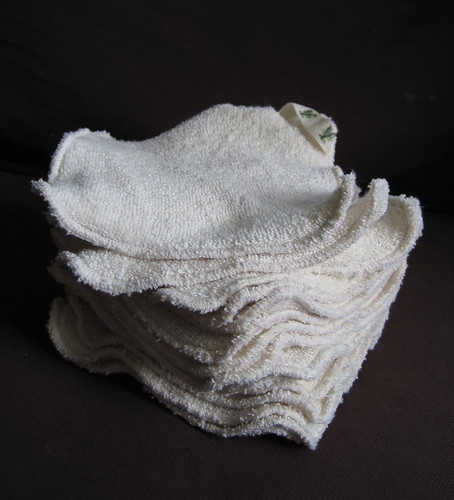 Organic cotton washcloths for Volta Organics