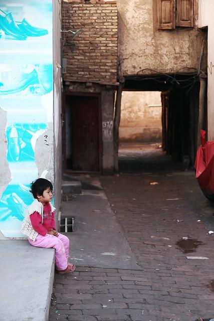 カシュガル旧市街、迷路の入口