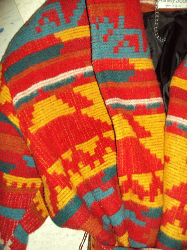 Amazing Navajo(ish) Print Wool Coat (detail)