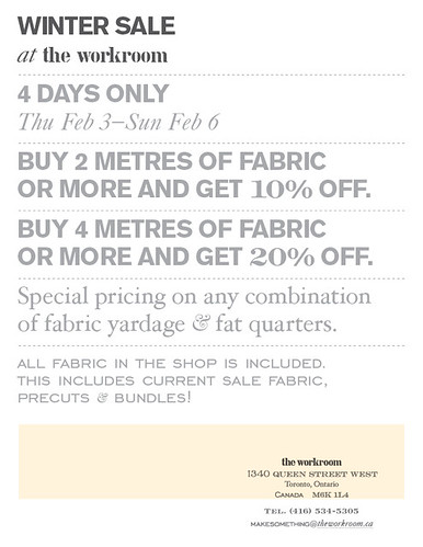 WINTER FABRIC SALE!