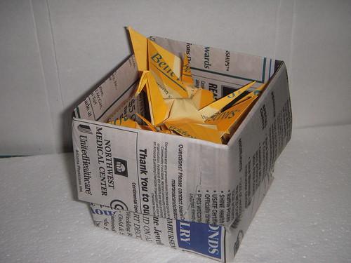 Origami #30: Box O' Cranes