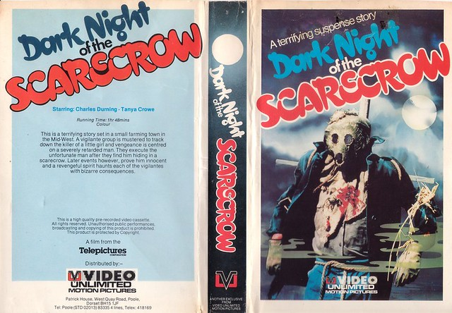 DARK NIGHT OF THE SCARECROW (VHS Box Art)