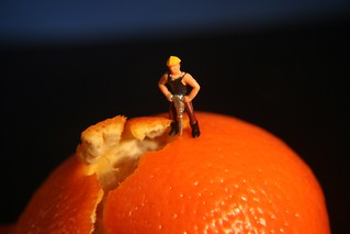 How to peel an orange.